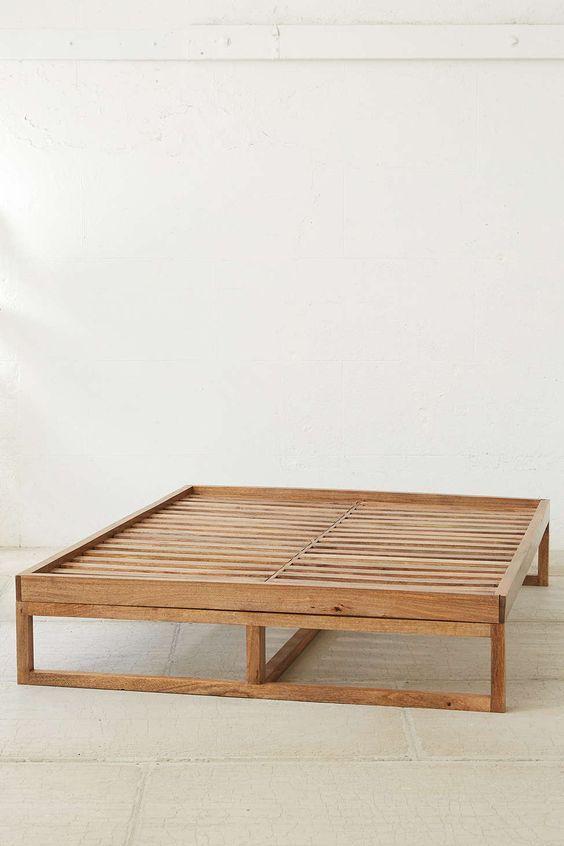 Wooden Bed Frame Amarilo Simple Bed Frame Platform Bed