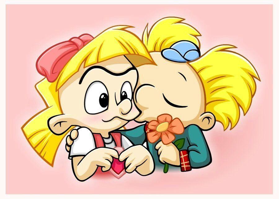 Helga And Arnold Heyarnold Portadas Para Facebook Arnold Y Helga Fotos En Caricatura