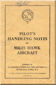 Miles Hawk  Aircraft   Pilot Notes Manual