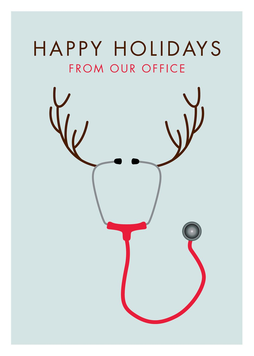 Stethoscope Reindeer Holiday Christmas Card. 20%off ...