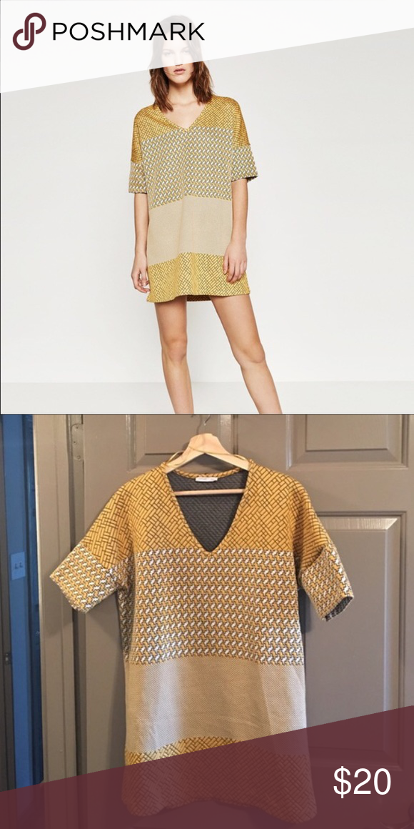 8b8384d9 Zara yellow mini dress size M Brand new, no tags. Mini dress. Size medium. Zara  Dresses Mini