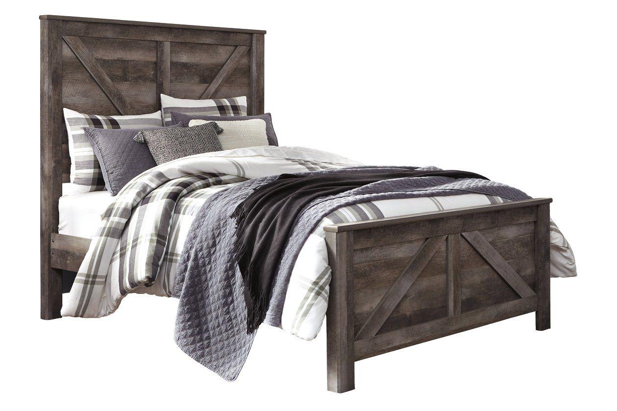 Wynnlow Queen Crossbuck Panel Bed in 2020 Panel bed, Bed
