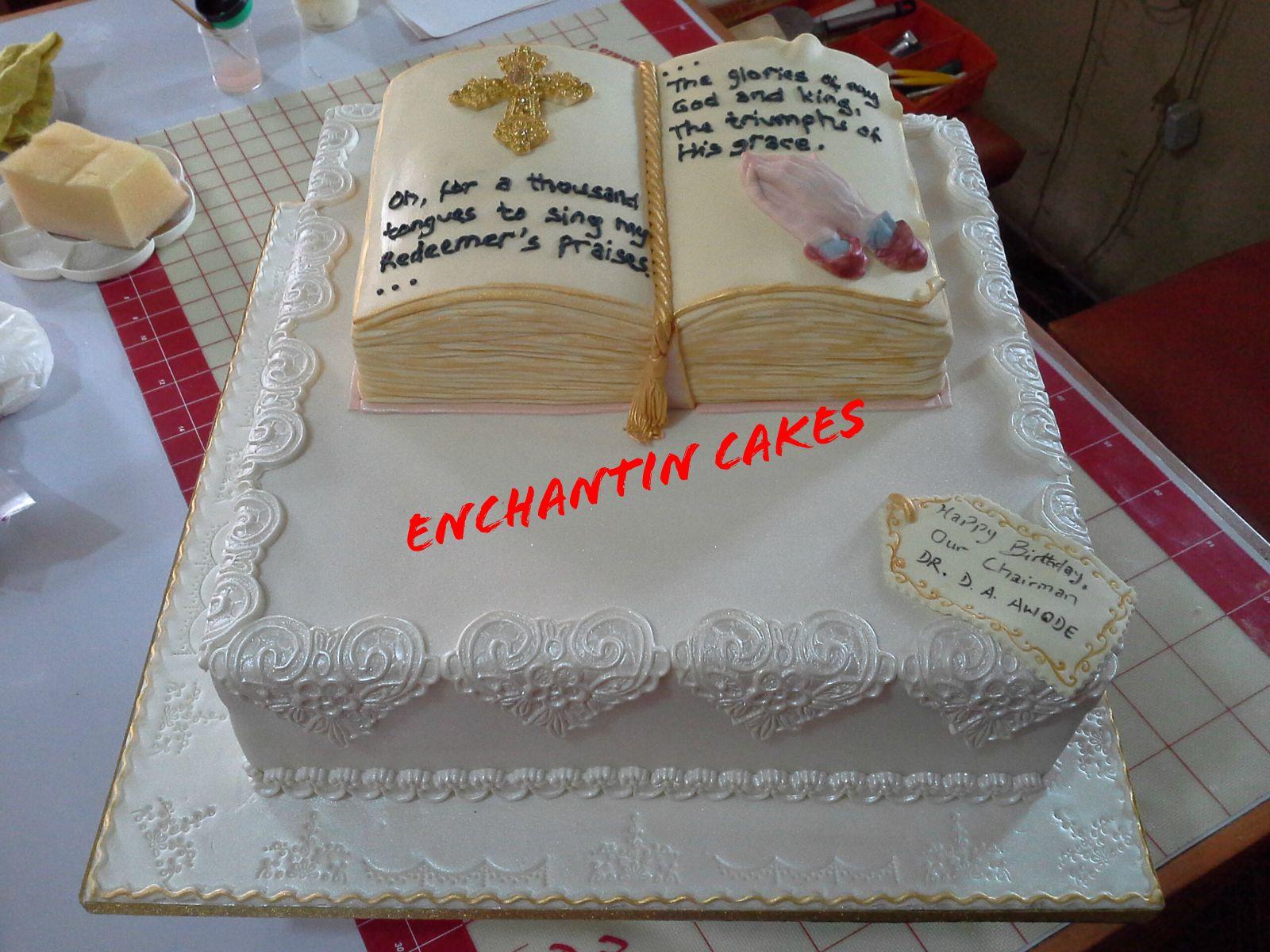 Birthday Cake For A Pastor Enchantin Cakes Decor In 2018
