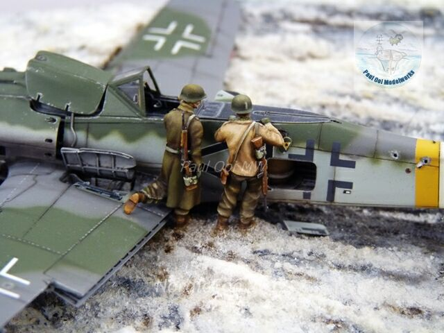 1:72 battle damage diorama  | Plastic Model Aircraft | Model