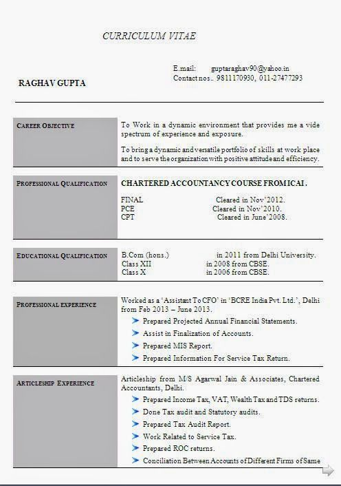 Accounting Resume Example Sample Template Example Ofexcellent
