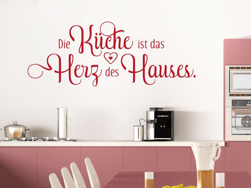 Wandtattoo Die Küche ist das Herz des Hauses Spruch auf Küchenwand ...