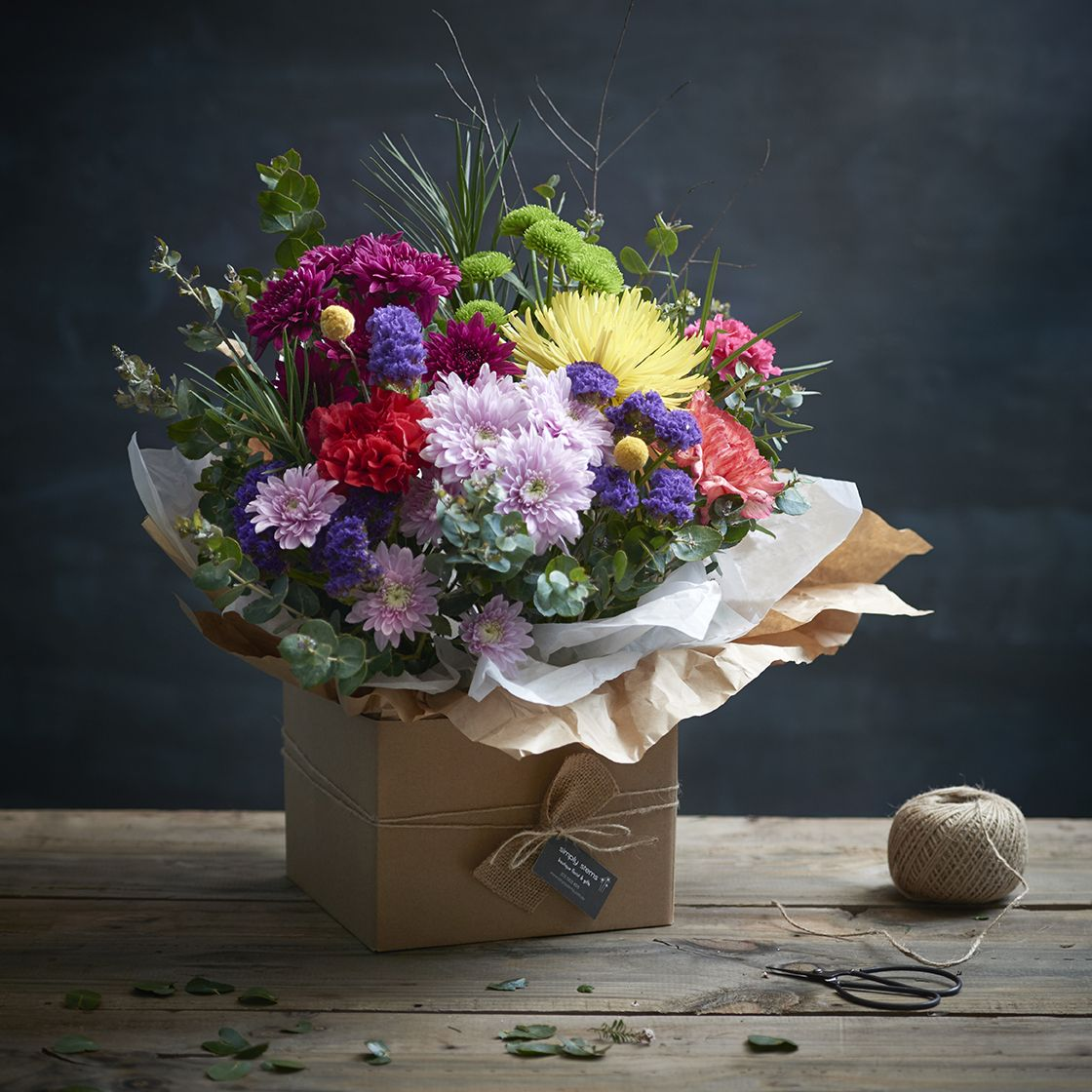 Natural Elegance Bright Box of Flowers