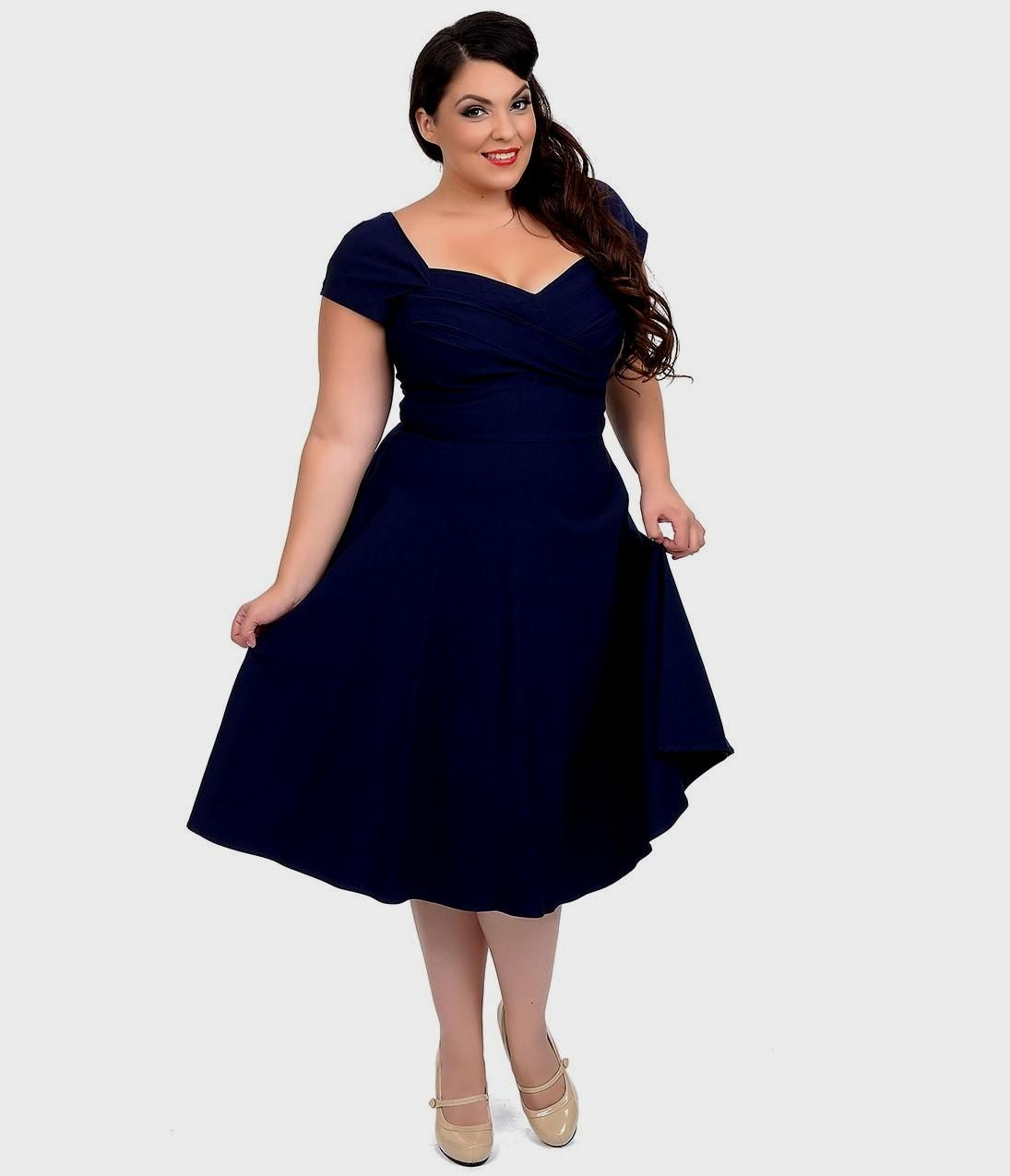 Blue Plus Size Dresses With Sleeves - blue plus size dresses with ...