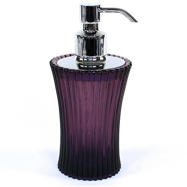 Purple Round Gl Soap Dispenser 8981-63 (84 CAD) ❤ liked on ... on purple jewelry accessories, purple kitchen accessories, purple flower pots, purple furniture accessories, purple room accessories, purple shower curtains and accessories, purple home accessories, purple car accessories, purple wedding accessories, purple bedroom, purple beds, purple desk accessories, purple wall accessories,