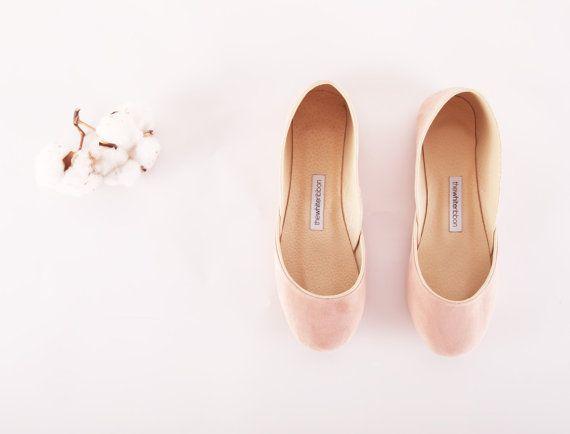 Ballerinas aus weichem Leder. Blush von thewhiteribbon auf Etsy