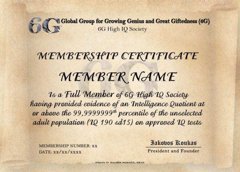 Iq Certificate Template Atlantaauctionco For Iq Certificate