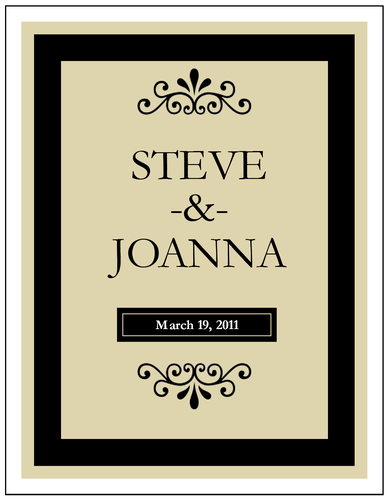 Starbucks Verismo Giveaway and Free Printables | Wedding labels ...