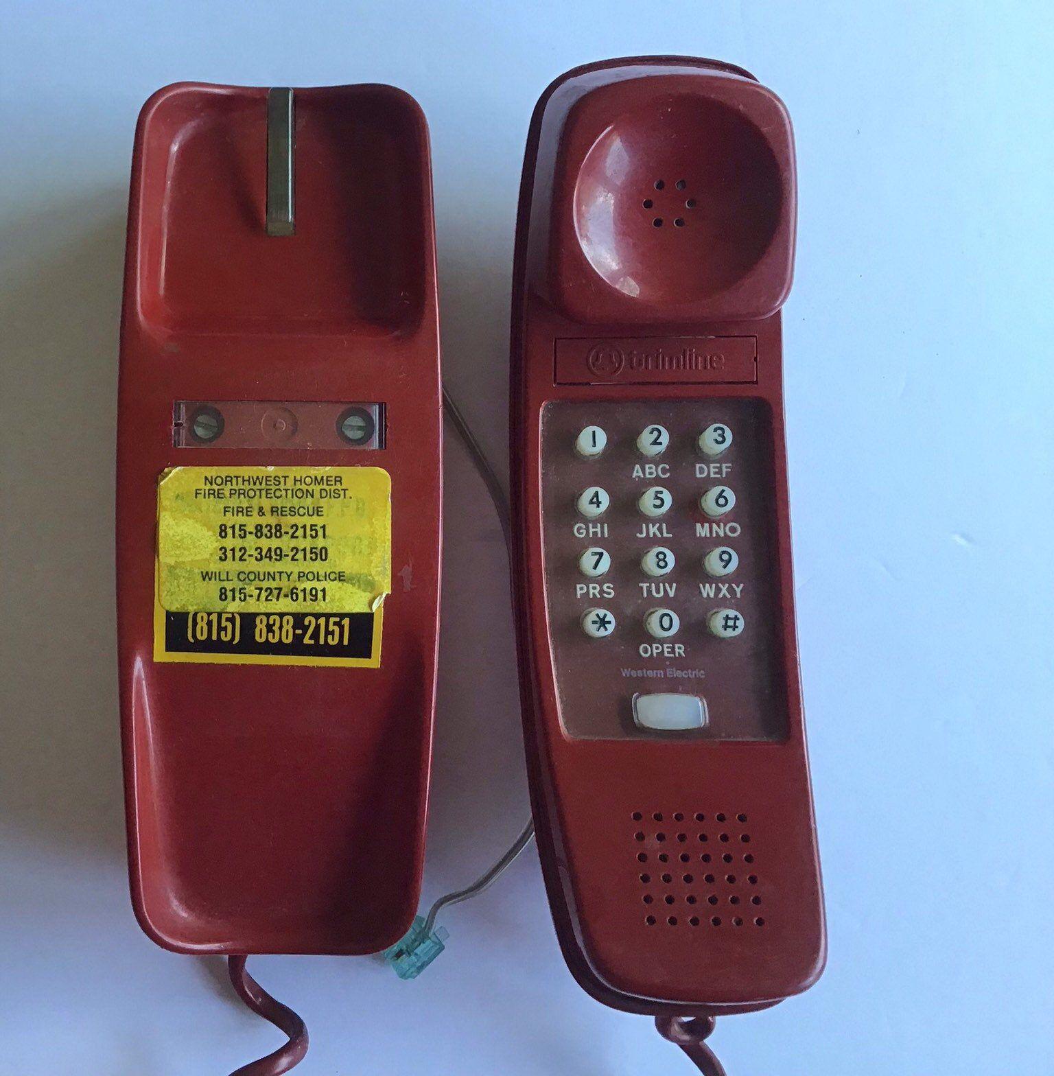 Vintage Red Trimline Telephone Western Rlectric 1974 Retro Decor Telephone Retro Decor Etsy Etsy Shop Owner