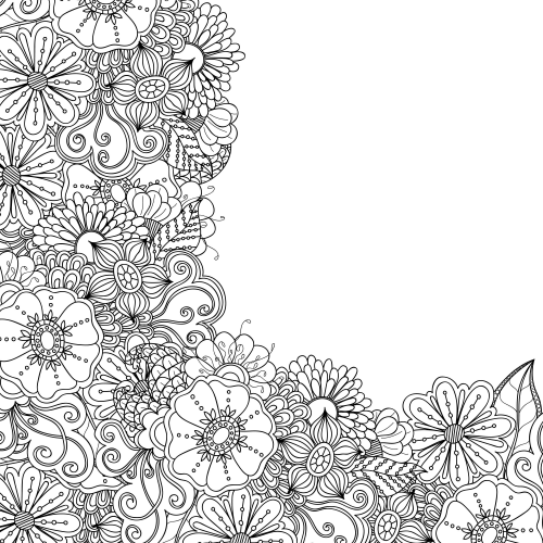 advanced flower coloring pages 7 - Advanced Coloring Pages Letters