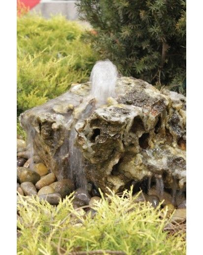 Aqua Bella Granite Bubbling Boulder Kit Small Bubbling Rock Fountains Water Features In The Garden Rock Fountain Backyard Water Feature