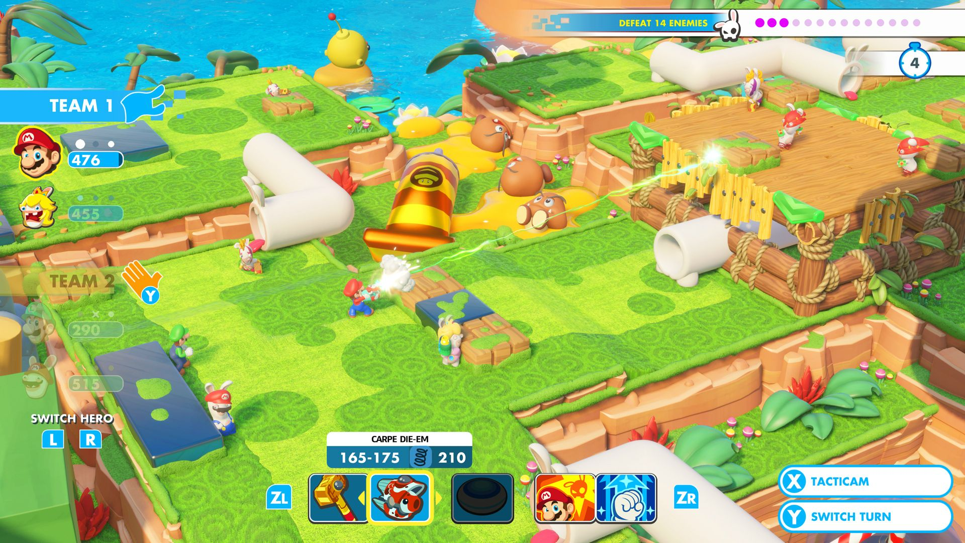 Mario + Rabbids Kingdom Battle Coop Challenges and
