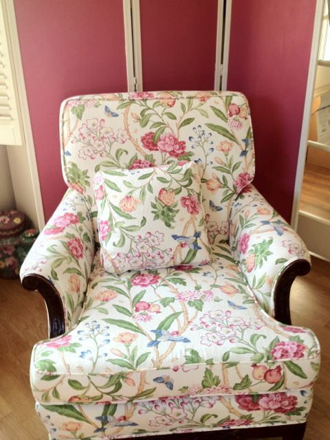 Floral Chairs for Living Room | SHR_floral chair_in living room | FLORAL CHAIR | Pinterest