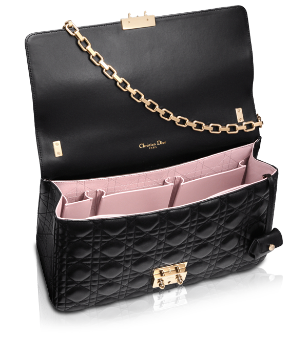 MISS DIOR - Black leather  Miss Dior  bag  764b13e7c0347