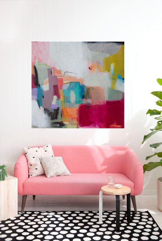 Abstract painting, large abstract painting, contemporary art ...