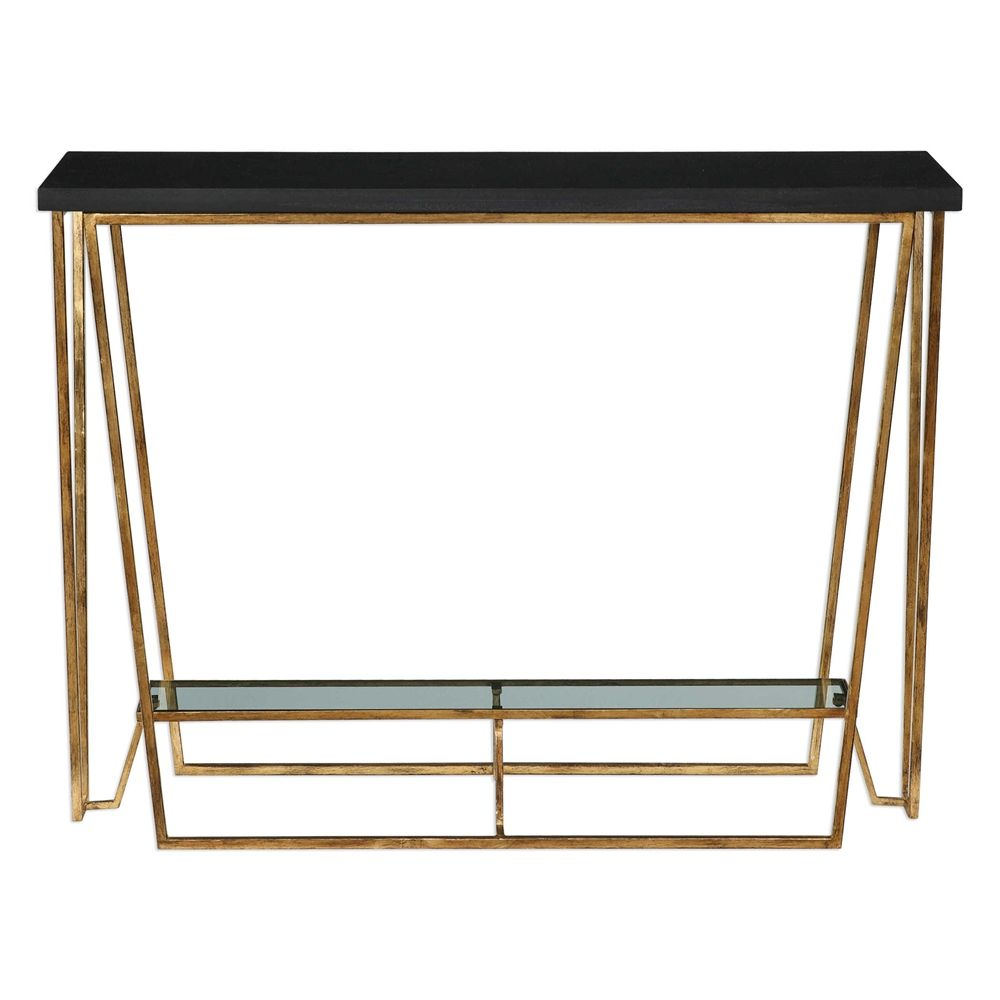 Uttermost Agnes Console Table Metal Console Table Modern Accent Tables Gallery Shelves