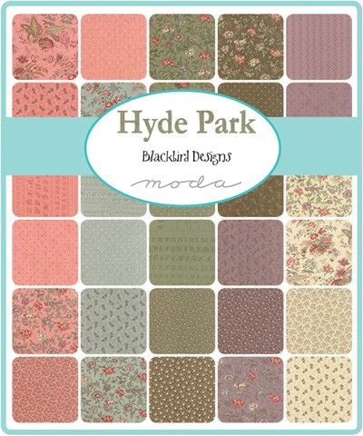 Moda Hyde Park Charm Pack by Blackbird Designs | Moda fabrics | Hulu