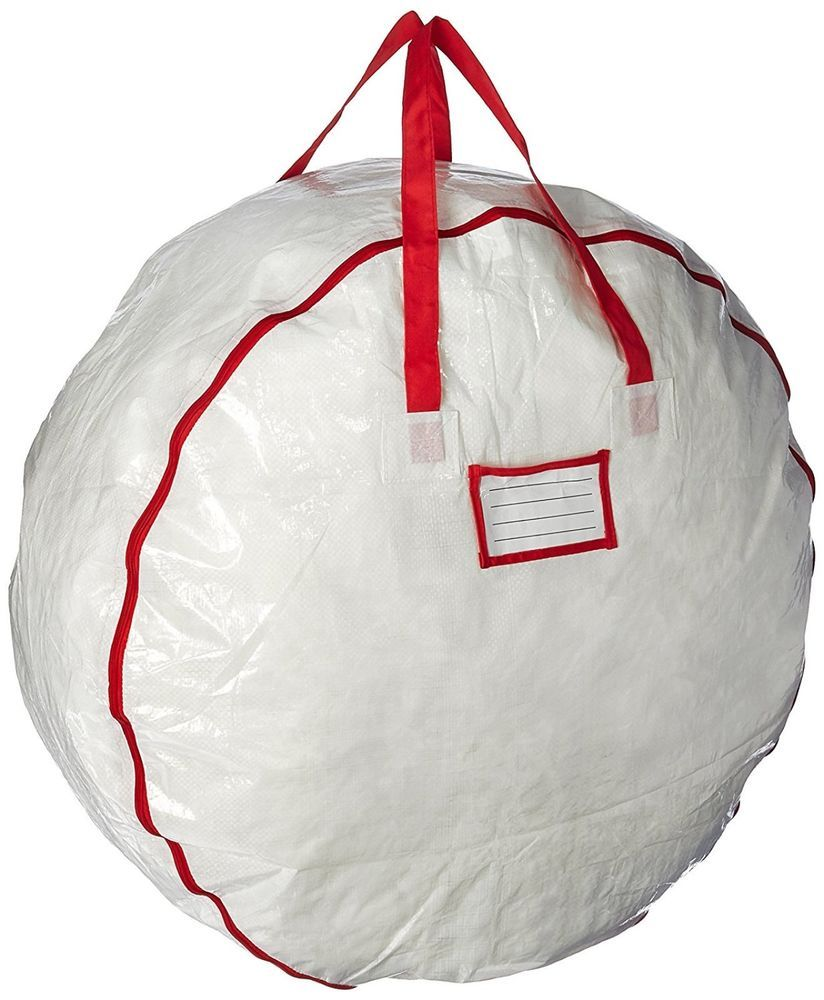 christmas wreath storage bag for 30 wreaths deluxe white seasonal holiday decor