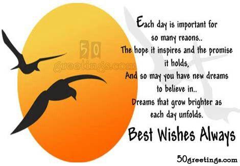 Best wishes...