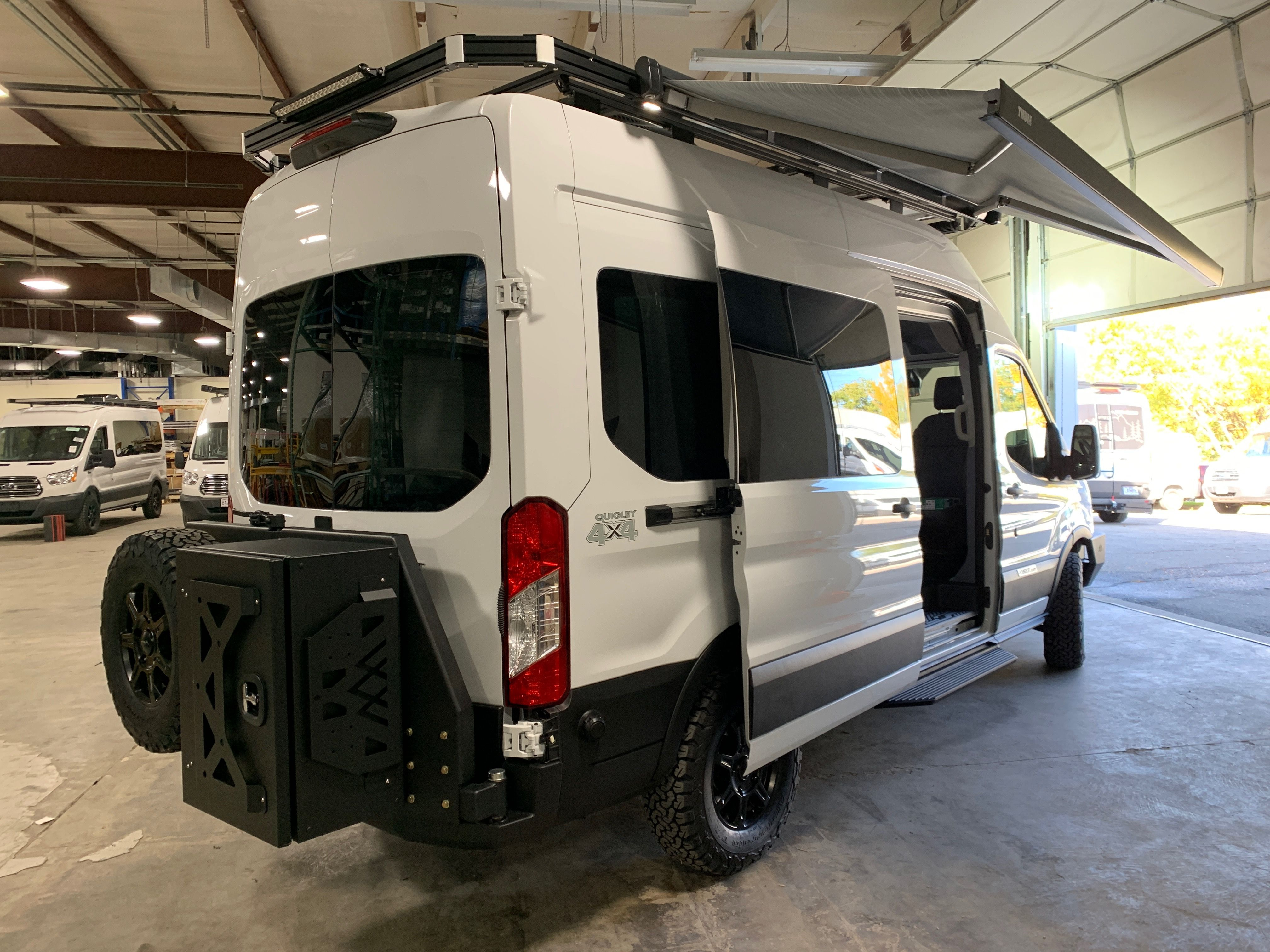 Vandoit Campervan With A Backwoodbumper With Tire Swingarm And