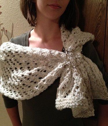 Lace Shawl - a loom knit pattern   Shawl patterns, Shawl and Loom ...