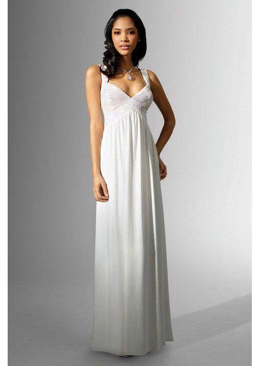 Best Empire Waist Silhouette V-neck Chiffon Wedding Dress Buy, Wedding Dresses In Arizona, Party Dresses
