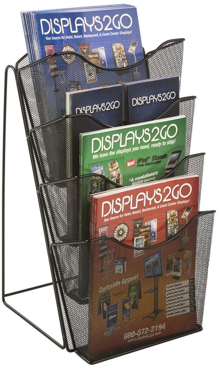 4 Tier Literature Rack For Countertop Fits 8 5x11 4x9 Pamphlets