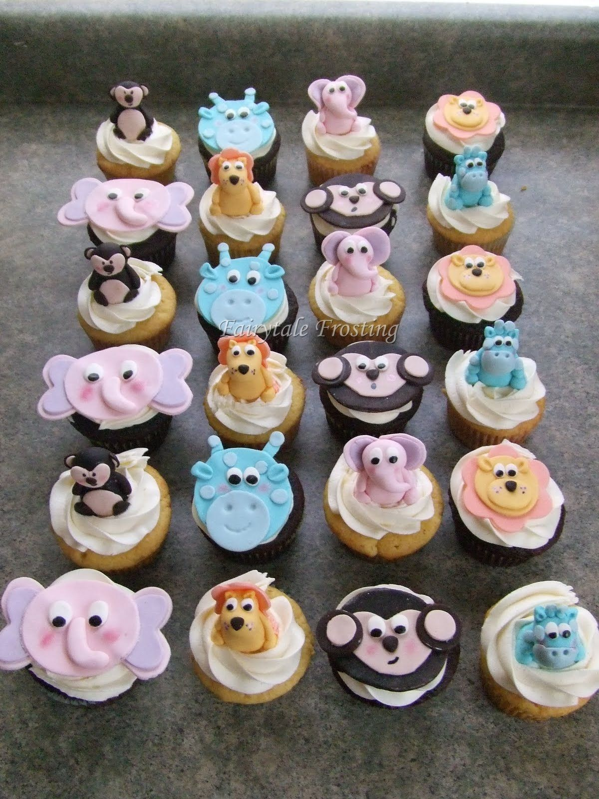 Baby Shower Cupcakes Boy Jungle Fairytale Frosting Pastel