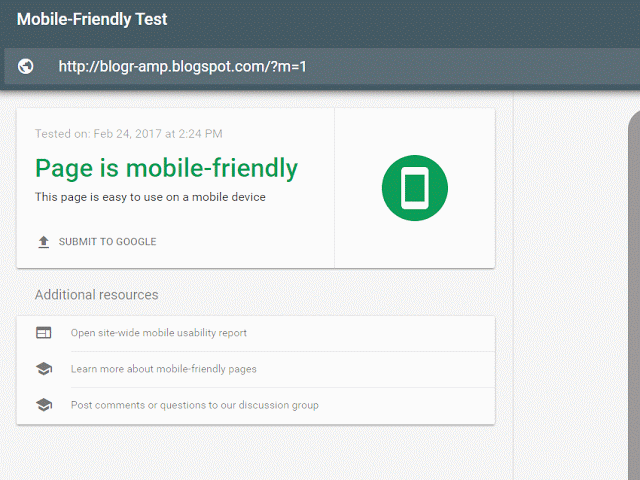 Test you #blogger blog page mobile friendly at Google instantly from ...