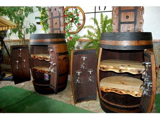 Wine Barrel Cabinet - for my wine bottle collection!