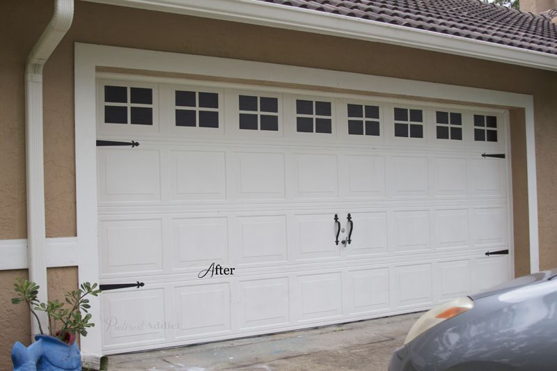 Creating A Faux Carriage Garage Door Pinterest Addict Garage Doors Cheap Garage Doors Garage Door Trim