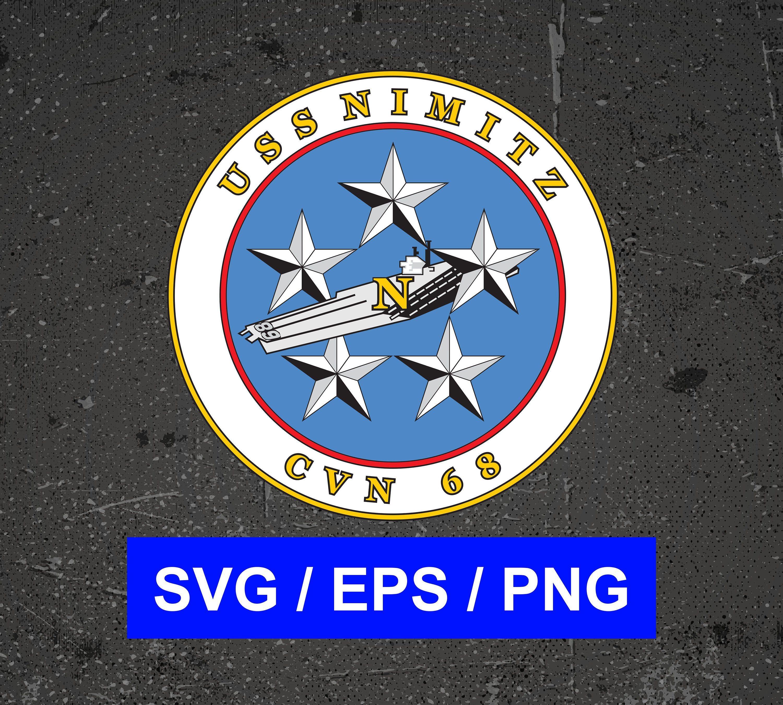 Uss Nimitz Cvn 68 Aircraft Carrier Logo Emblem Vector Files Svg Eps Png Uss Nimitz Emblem Logo Aircraft Carrier
