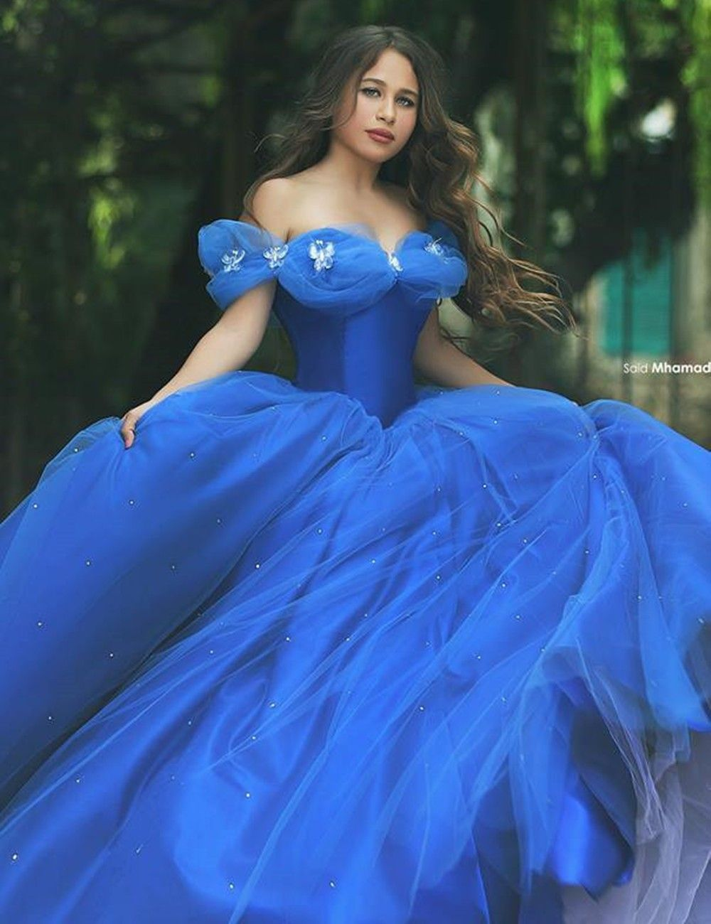 fb3ed87915d Classic New Ball Gown Cinderella Quinceanera Dresses Beads Tulle Sweet 16  Dresses Custom Amazing Royal Blue