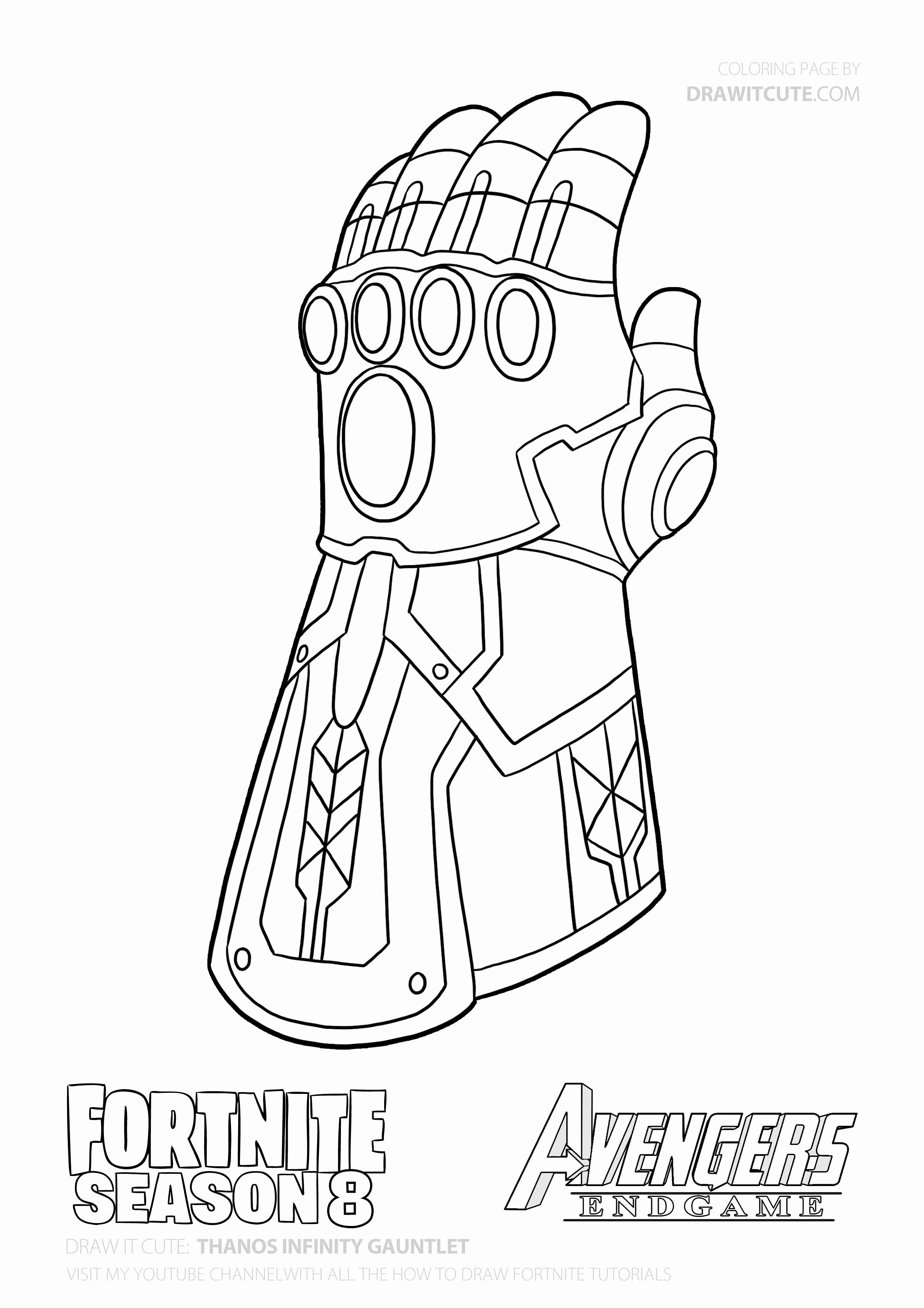 - Infinity Gauntlet Coloring Page Inspirational How To Draw Thanos