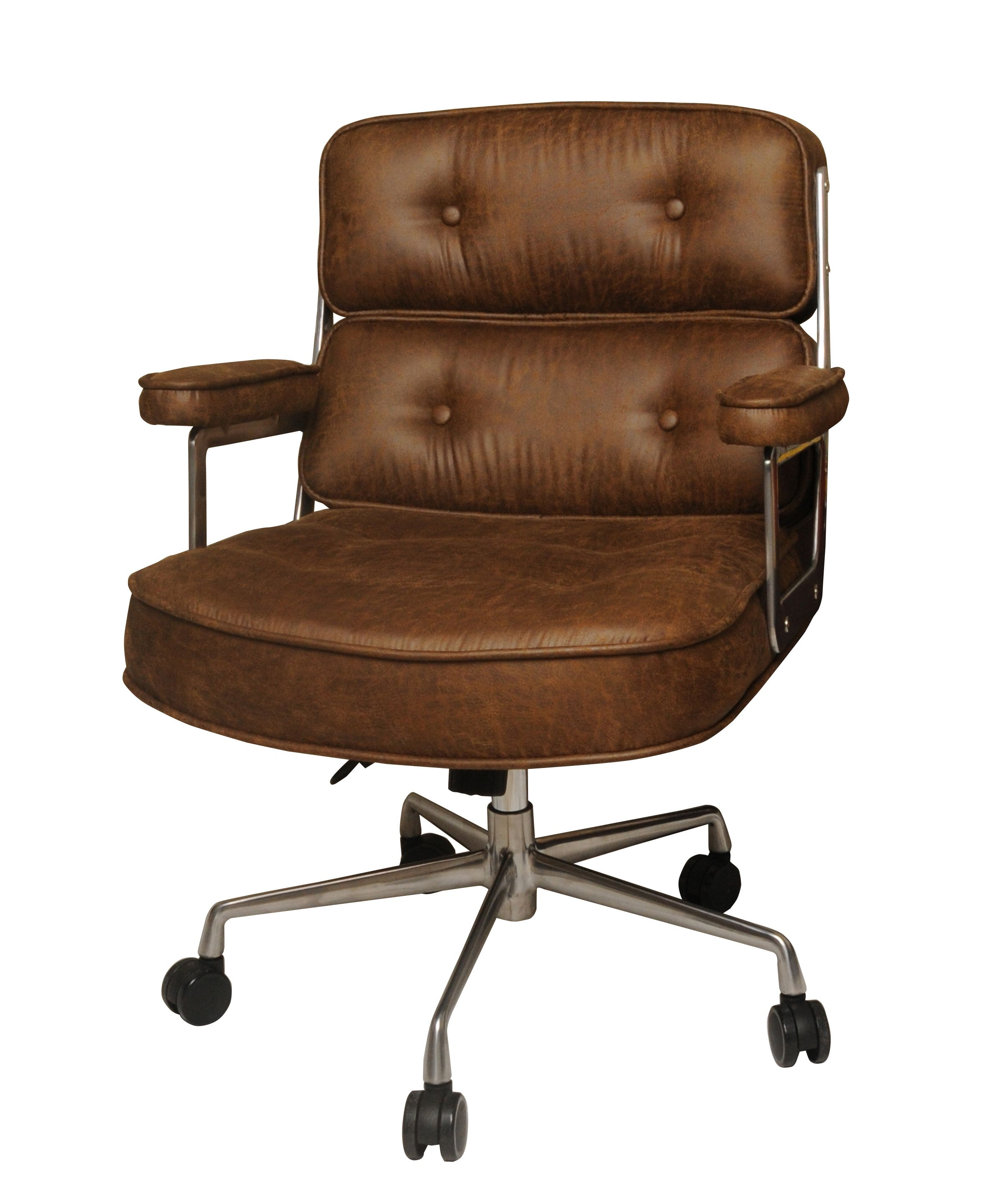 Fred fabric office chair in nubuck brown npd