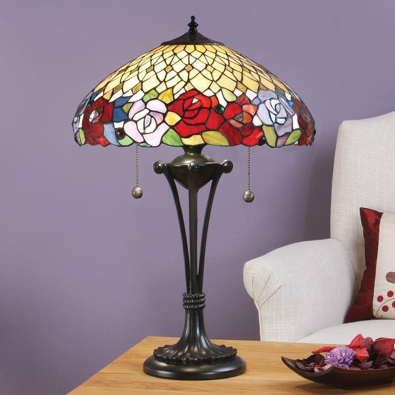 Lampada tiffany da tavolo o scrivania con fiori lampade - Lampade tiffany da tavolo ...