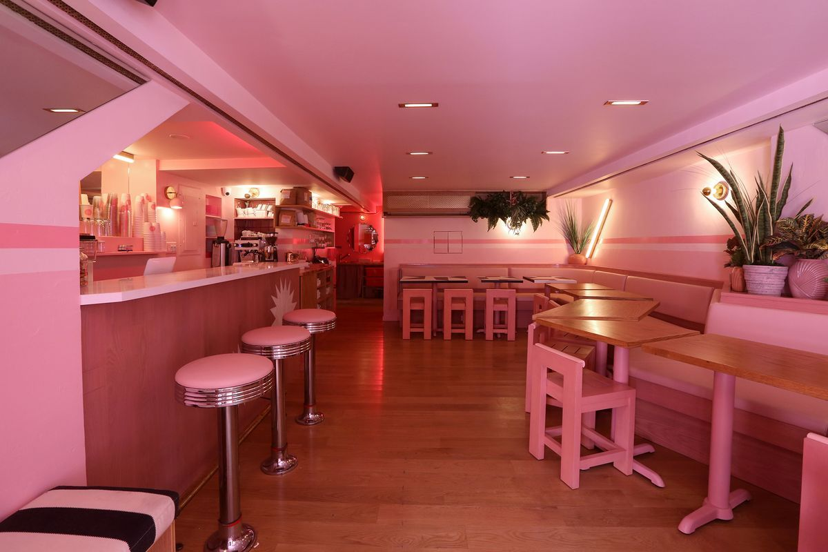 inside pietro nolita, the all-pink restaurant from two fashion