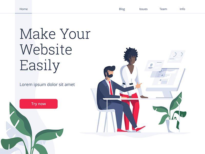 Make Your Website Website Making Website Design Inspiration Website Banner