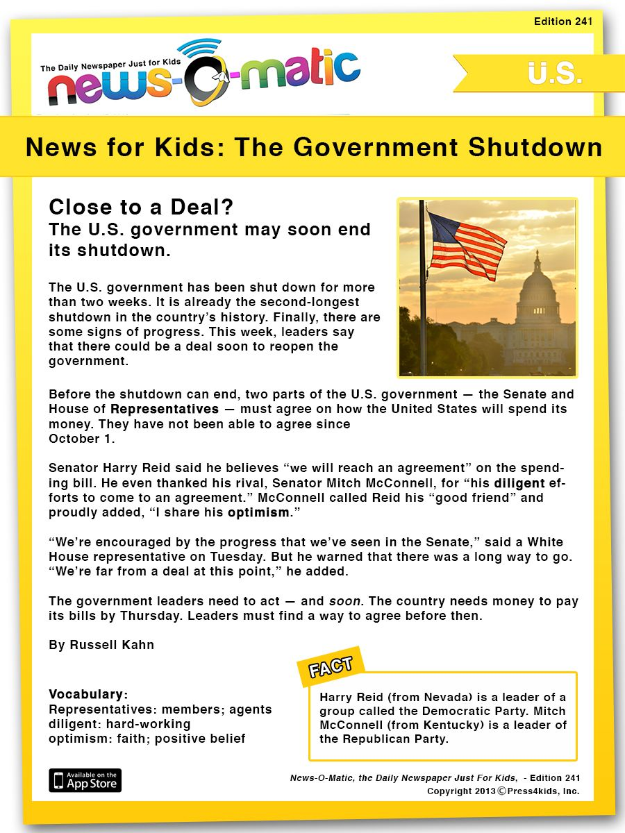 In News O Matic S Edition 241 We Covered The Shutdown Situation