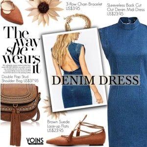 Yoins 32:Denim Dress