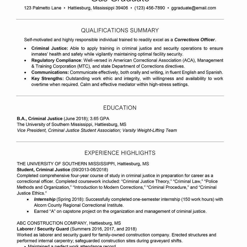 College Freshman Resume Template New College Resume