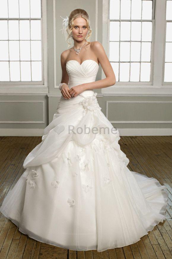Robe de mariee avec bustier