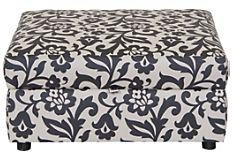 Designed2B Polyester Square Storage Ottoman - Dove