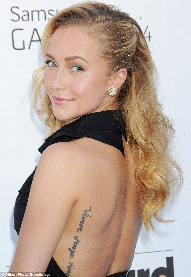 Nice View Of The Tatooed Back And The Side Swept Old Hollywood Waves