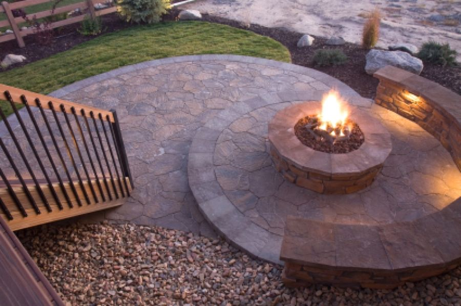 1000+ images about outdoor firepit on Pinterest | Flag stone ...