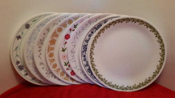 Corelle Dinner Plates Set Of 8 Mismatched Dinner Plates By